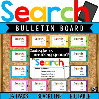iPad Google Search Results Bulletin Board Accents - Editable Classroom Decor