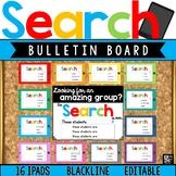 Bulletin Board Accents: Google Search Results (iPads) Editable Classroom Decor