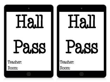 iPad Hall Pass