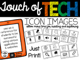 iPad Icon Images for Student Reference in Tech Classrooms