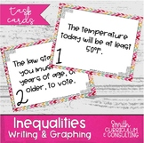 Inequalities Task Cards - Writing and Graphing One Step