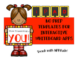 iPad Interactive Whiteboard App PRINTABLES  (NO PREP)