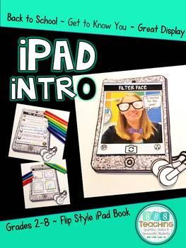 iPad Intro Back to School Activity Printable and Digital Version