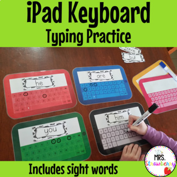 iPad Keyboard Typing Practice with Sight Words