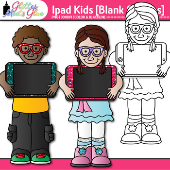 iPad Kids Clip Art {Great for Technology and Digital Citizenship Use} 1