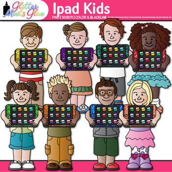 iPad Kids Clip Art {Great for Technology and Digital Citizenship Use} 2