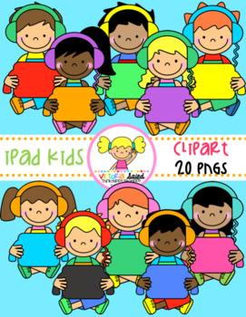 iPad Kids Clipart