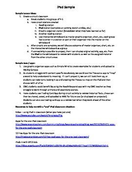 iPad Lesson Sample