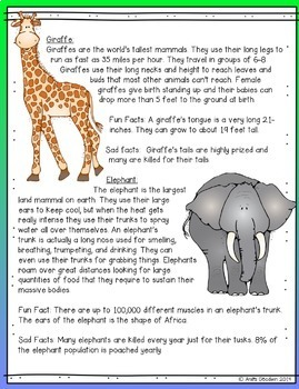 iPad Lessons- Animal Facts-Research and Digital Mini Poster