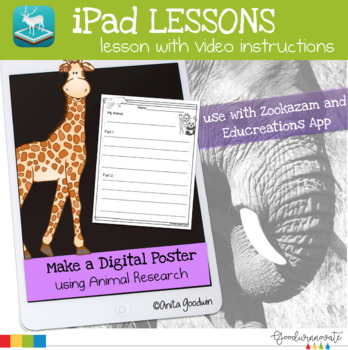 iPad Lessons Animal Facts | Research and Digital Mini Poster