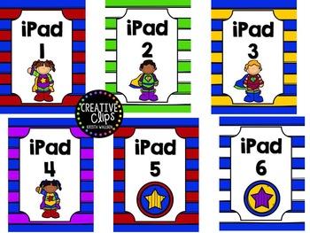 iPad Lock Screen Superhero theme