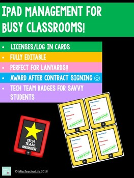 iPad Management for Busy Classrooms! EDITABLE RESOURCE
