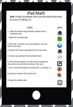 iPad Math Activity - Hundreds Chart