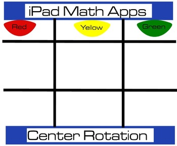 iPad Math Apps Rotation Chart