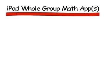 iPad Math Apps whole Group Chart