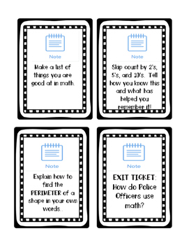 iPad Math Task Cards for SeeSaw App NO PREP