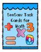 iPad Math Task Cards for SeeSaw App NO PREP