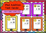 iPad Maths Addition Task Cards - With Emojis!