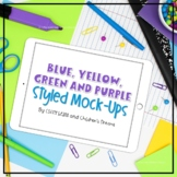 iPad Mock-ups | Blue, Green, Yellow and Purple Styled Images