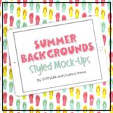 iPad Mock-ups   Summer Themed Styled Images