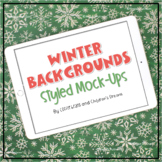 iPad Mock-ups   Winter Themed Styled Images