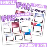 iPad Mockup for Digital Resources BUNDLE | July Edition {S