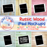 iPad Mockups | Digital Mockups | Rustic Wood Collection