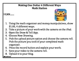 iPad Money Math Station/Center