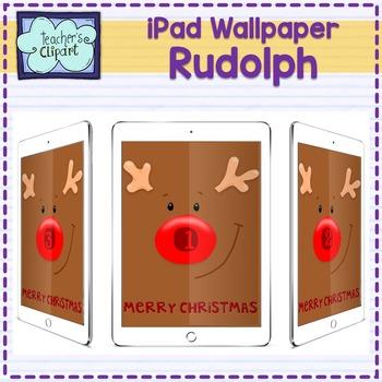 iPad Number Wallpaper (Rudolph the red nosed reindeer) - flash freebie