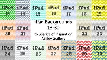 iPad Numbered Background Image Chevron 13-30