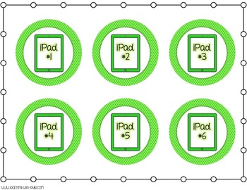 iPad Organization Labels