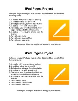 iPad Pages Project