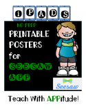 iPad Printable Posters for Comment Guidelines in SEESAW App