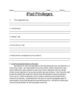 iPad Privileges