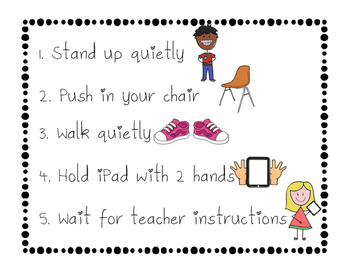 iPad Procedure Poster Freebie