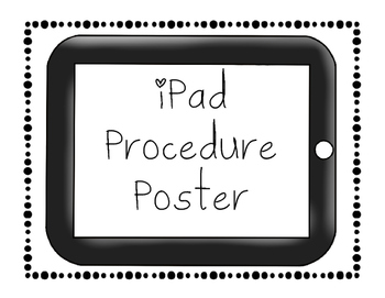iPad Procedure Poster Freebie