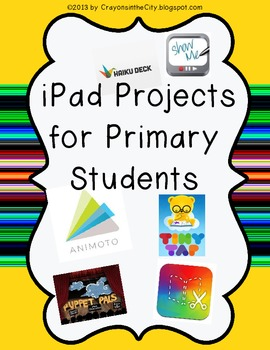 iPad Projects for Primary Students- graphic organizers
