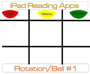 iPad Reading Apps Rotation Chart