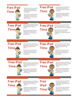 iPad Reward Coupons