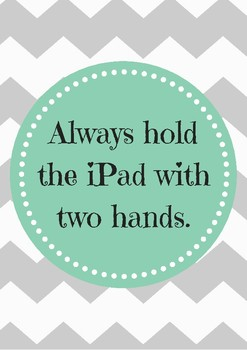 iPad Rule Posters