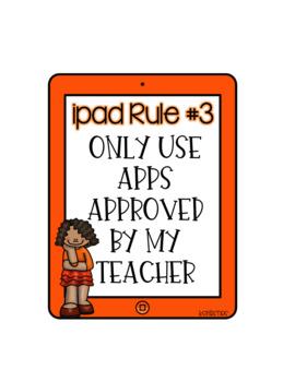 iPad Rule Posters