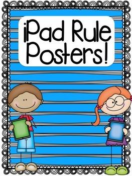 iPad Rule Posters FREEBIE!