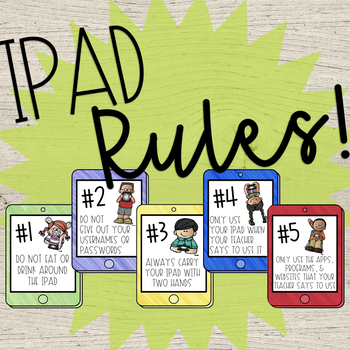 iPad Rule Posters for the Elementary Classroom