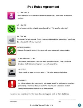 iPad Rules Contract for Elementary