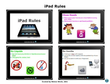 iPad Rules Handout for Elementary