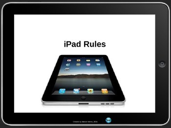 iPad Rules Individual Poster Set for Elementary