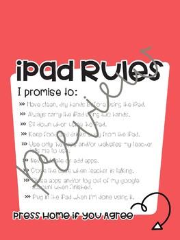 iPad Rules Lock Screen Wallpaper