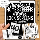 iPad Wallpaper Rules & Numbered Backgrounds:Rustic Shiplap Theme