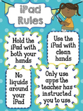 iPad or Tablet Rules Poster/Background (Editable!)