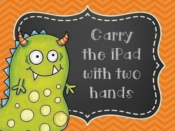 iPad Rules Posters (Monster Themed)